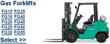 Select Mitsubishi Gas Forklifts